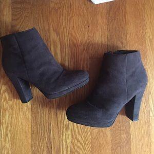 Black heel booties