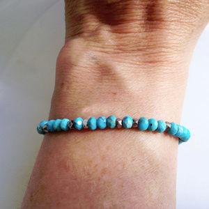 SS Turquoise Bracelet
