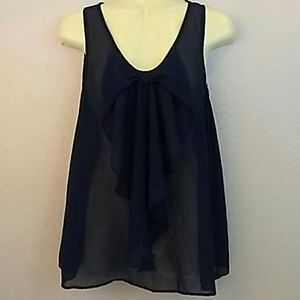 By & by sheer blouse Juniors Large Black Shell
