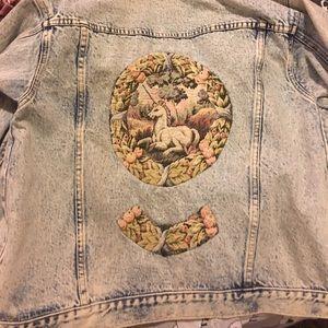 Jackets & Blazers - Vintage unicorn Jean jacket