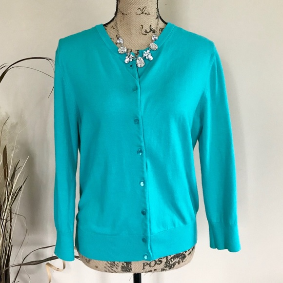Cable Gauge Sweaters Cable Gauge Turquoise Cardigan Poshmark