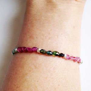 Tiny Tourmaline Stretch Bracelet