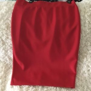 Plus size red skirt