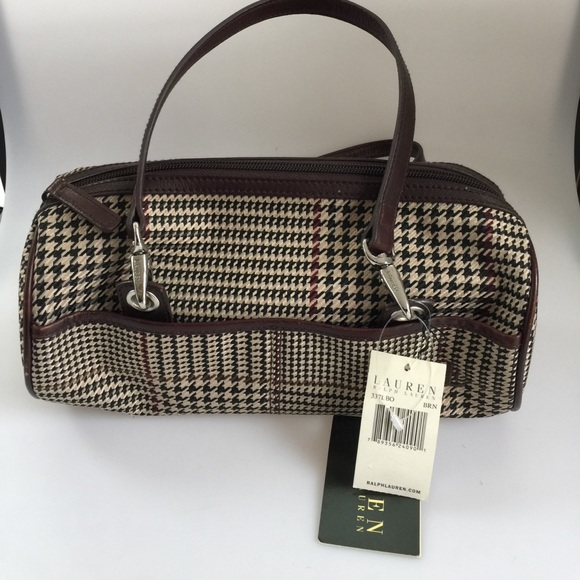 76653ae42e Lauren Ralph Lauren Handbags - NWT Ralph Lauren brown houndstooth purse.  Lovely!