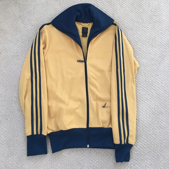 navy adidas originals jacket