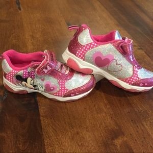 Other - Toddler 8 Minnie light up shoes