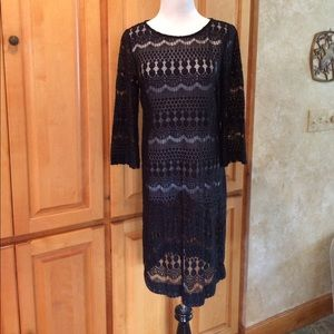 Chico's Black Lace Dress