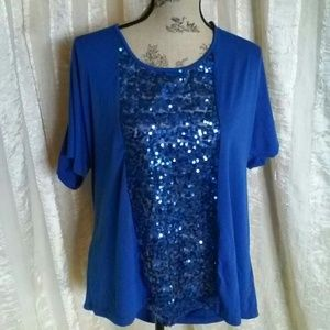 Maurice's Women's Sequined Blouse