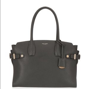 Henri Bendel 'Carlyle' grey satchel large tote