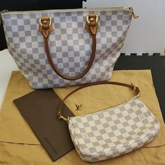65f223ab6207 Louis Vuitton Handbags - AITHENTIC! Louis Vuitton Damier Azur Bags-SET!