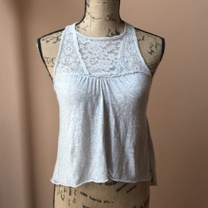 Hollister Grey Top Tunic with Lace