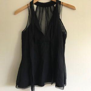 Eli's Tahari layer silk blouse