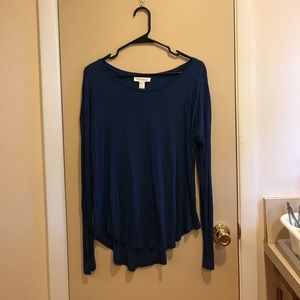 Long Sleeve Navy Blue top.
