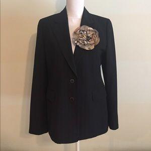 Burberry London black pinstripe blazer jacket