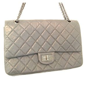 Chanel Grey 227 Reissue Jumbo Authentic, SHW