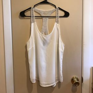 Cute White Top with Bead Detail