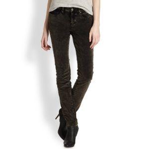 Eileen Fisher Velvet Skinny Jeans 14 Brown/Gray