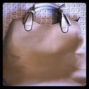 Handbags - Large beige  faux leather tote