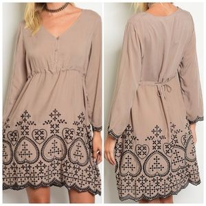 Dresses & Skirts - Long sleeve babydoll tunic dress