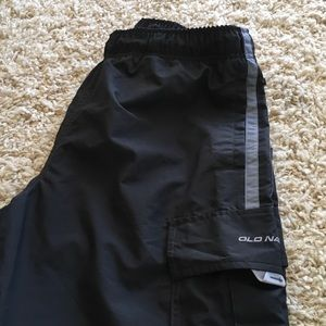 EUC jogging pants with zip off bottoms