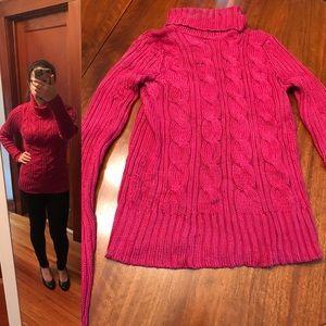 Neiman Marcus Exclusive red silk sweater