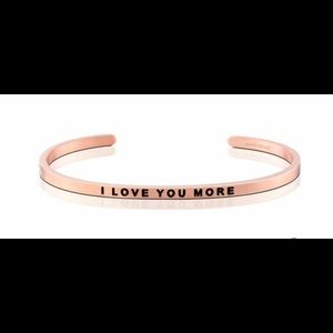 Jewelry - I love You More Mantraband in Rose Gold