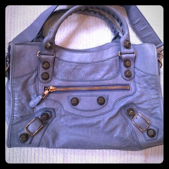 Balenciaga Handbags - Balenciaga Nuage / Periwinkle Rose Gold HW City