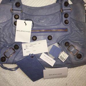 Balenciaga Bags - Balenciaga Nuage / Periwinkle Rose Gold HW City