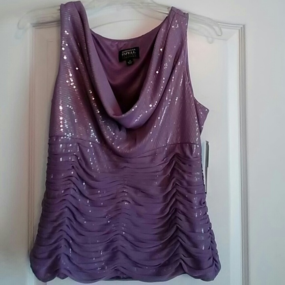 1ae7d75c2ce17 Lavender formal sequin top new with tag