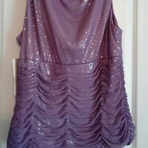 7ce789229b68c Adrianna Papell Tops - Lavender formal sequin top new with tag