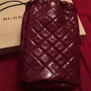 Handbags - Burberry small patent pouch
