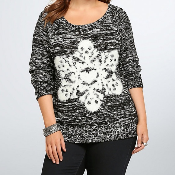 58% off torrid Sweaters - Torrid Skull Snowflake Knit Sweater from ...