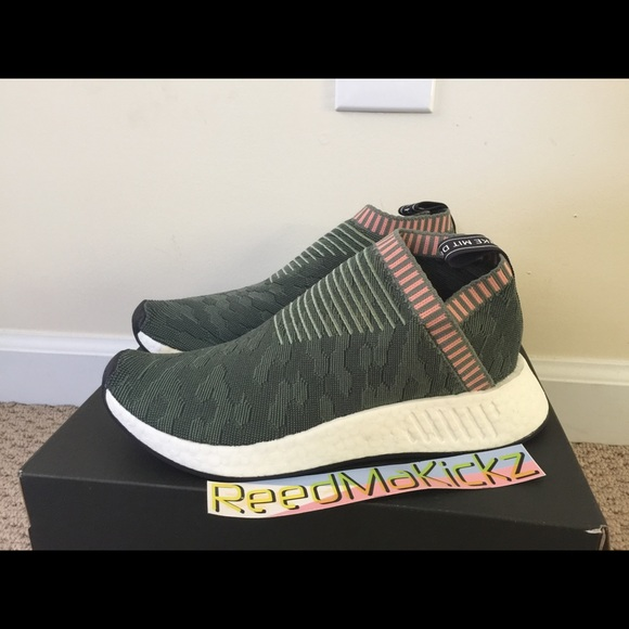 25e9f6cef Adidas NMD CS2 primeknit trace green pink BY8781