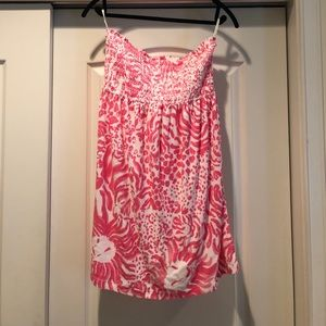 Cute terry cloth Lilly Pulitzer cover up size L