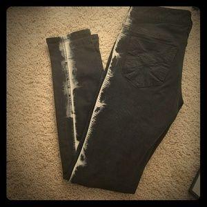 Royal bones bleach stripe skinny jeans