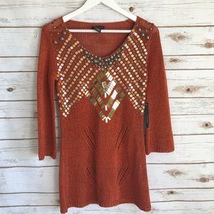 NWT BCBGMAXAZRIA Embellished Tunic