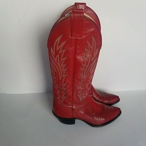 Justin Red Cowgirl Boots