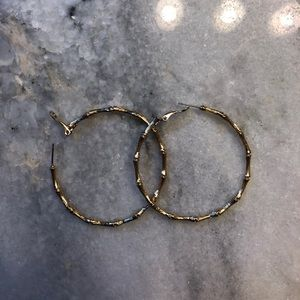 Lilly Pulitzer gold bamboo hoops
