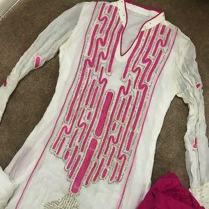 Dresses & Skirts - Pakistani Indian 3 piece dress long Kameez suit
