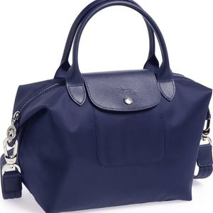Longchamp 'Small Le Pliage Neo' Nylon Tote Navy