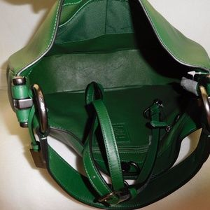 34ac3ced49 Coach Bags - Coach Racing Green Nomad Hobo In Glovetanned Lthr