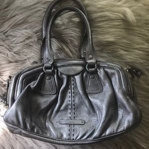 Cole Haan Silver Leather Satchel