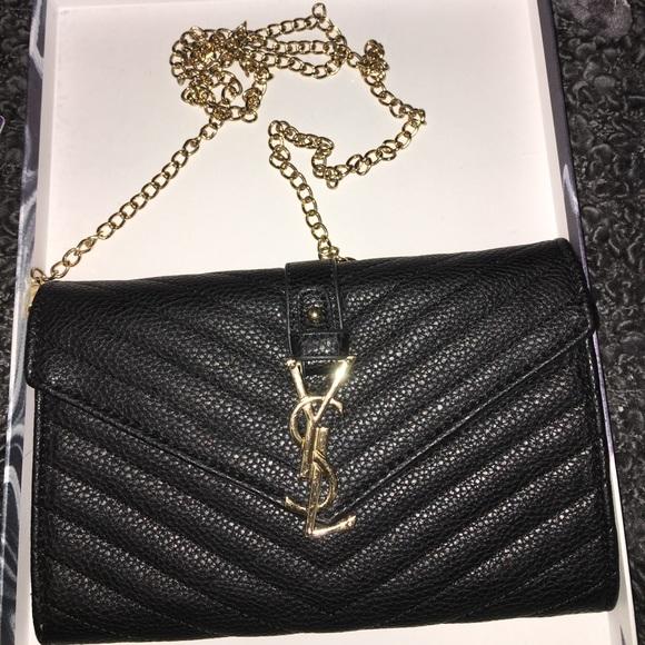 """f46280a879 """"ysl"""" Crossbody Chain Bag"""