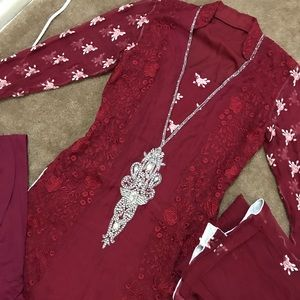 Dresses & Skirts - Indian Pakistani long kameez 3 piece dress