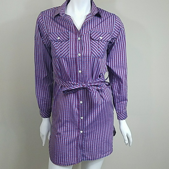 Billy Reid Dresses & Skirts - Billy Reid Plaid Belted Shirt Dress