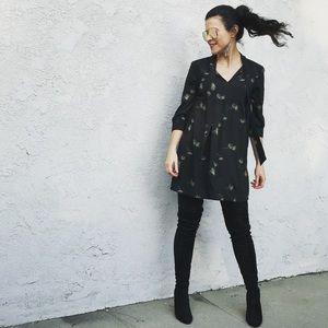URBAN OUTFITTERS Babydoll Black Mini Dress Small