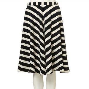 Topshop stripe full circle skirt