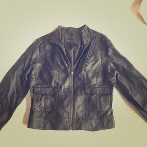 Joujou Faux Leather Bomber