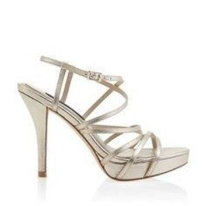 WHBM • Gold\Silver Strappy Heels