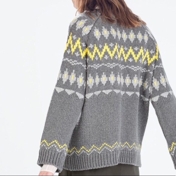 Zara Knit Fair Isle Nordic Sweater - Medium